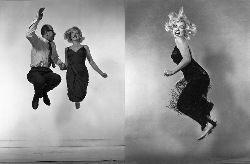 Marilyn Monroe and Philippe Halsman, 1954
