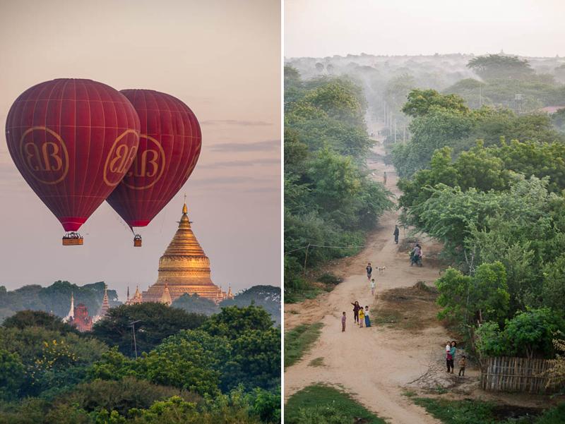 Birmanie bagan diptyque